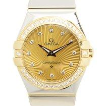 歐米茄 Constellation Gold Steel Diamond Gold Quartz 123.25.27.60....