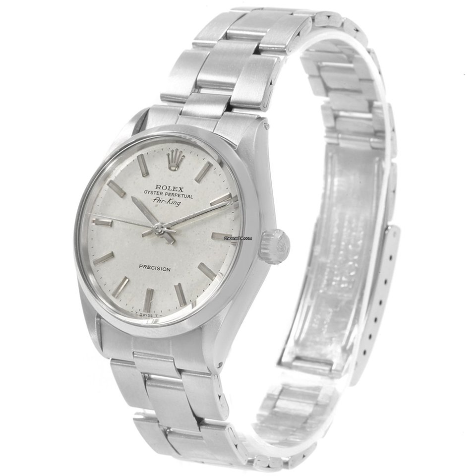 bc685d4cf30 Rolex Air King Vintage Stainless Steel Silver Dial Mens Watch... za ...