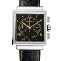 Eterna Steel 45,5mm Automatic Eterna Heritage 1938 new