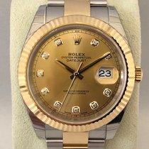 Rolex Datejust Steel/gold Diamond dial 126333 ( New )