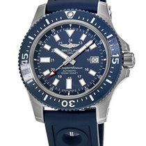 Breitling Steel Automatic Blue No numerals 44mm new Superocean 44