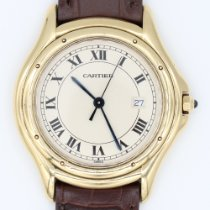 Cartier Cougar Or jaune 34mm Blanc Romains
