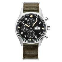 IWC Pilot Chronograph Staal 43mm Zwart