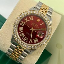 Rolex Datejust Acero y oro 36mm Rojo Romanos
