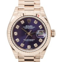 Rolex Rose gold Automatic Purple 28mm new Lady-Datejust