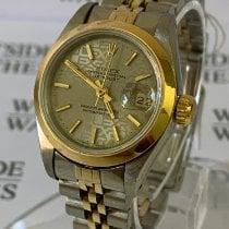 Rolex Oyster Perpetual Lady Date Stal 26mm Złoty Bez cyfr