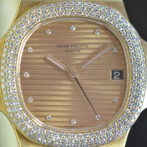 Patek Philippe Yellow gold Automatic Gold No numerals 37mm pre-owned Nautilus