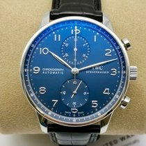 IWC Portuguese Chronograph Steel 40.9mm Blue Arabic numerals