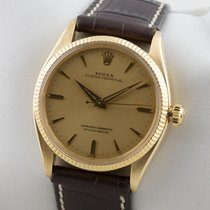 Rolex OYSTER PERPETUAL AUTOMATIK 18K GOLD GELBGOLD SERVICE...