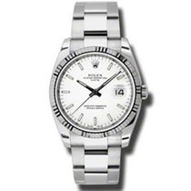 Rolex Oyster Perpetual Date nouveau Montre avec coffret d'origine et papiers d'origine 115234 WIO