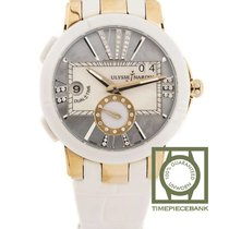 Ulysse Nardin Ceramic Automatic Mother of pearl No numerals 40mm new Executive Dual Time Lady