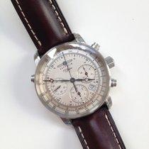 Zeppelin Chronograph 42mm Automatik 2016 gebraucht Silber