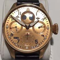 IWC Rose gold Automatic Gold Arabic numerals 46mm pre-owned Big Pilot