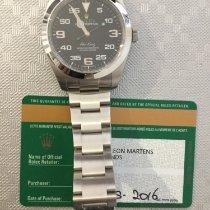 Rolex Air King Acier 40mm Noir Arabes France, Issy les Moulineaux