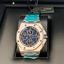 Audemars Piguet Royal Oak Offshore Chronograph Platin 42mm Blau