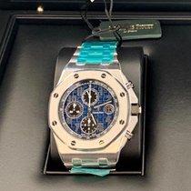 Audemars Piguet Platin Automatik Blau 42mm neu Royal Oak Offshore Chronograph