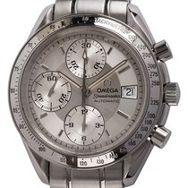 Omega Speedmaster Date pre-owned 39mm Silver Chronograph Date Tachymeter