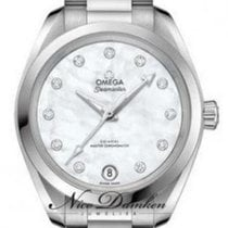 Omega Seamaster Aqua Terra Steel 34mm Mother of pearl No numerals