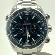 Omega Seamaster Planet Ocean Chronograph Steel Black