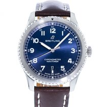 Breitling Navitimer 8 pre-owned 41mm Blue Leather