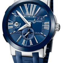 Ulysse Nardin Executive Dual Time Steel 43mm Blue Roman numerals United States of America, Florida, Sunny Isles Beach