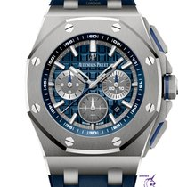 Audemars Piguet Royal Oak Offshore Chronograph Титан 42mm Синий Без цифр