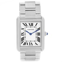 Cartier Tank Solo Large Stainless Steel Silver Dial Watch...