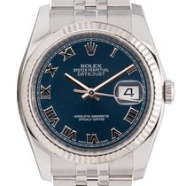 Rolex DateJust 36mm Stainless Steel Blue Dial Oyster 116234