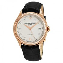 Baume & Mercier Clifton Rose gold 39mm Silver Arabic numerals United States of America, New York, Scarsdale