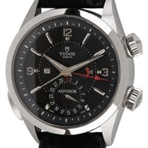 Tudor Steel Automatic Black Arabic numerals 42mm pre-owned Heritage Advisor
