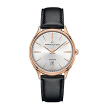 Hamilton Jazzmaster Thinline Rose gold 40mm Silver