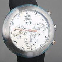 Ikepod Chronograph 44mm Automatik neu Hemipode Silber