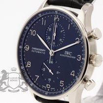 IWC IW371413 White gold 2003 Portuguese Chronograph 41mm pre-owned