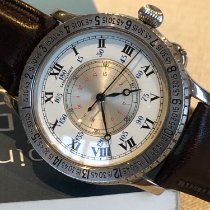 Longines Steel Automatic White Roman numerals 40mm pre-owned Lindbergh Hour Angle