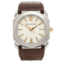 Bulgari 41mm Automatic pre-owned Octo White