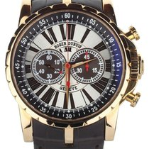 Roger Dubuis Rose gold Automatic Silver 45mm pre-owned Excalibur