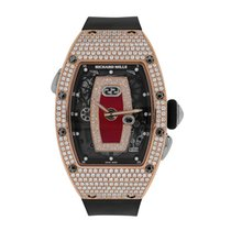 Richard Mille new Automatic Skeletonized 34.4mm Rose gold Sapphire Glass