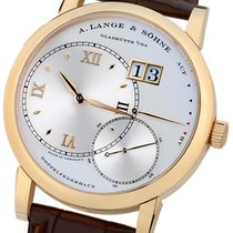 A. Lange & Söhne Rose gold Manual winding Silver 37mm pre-owned Grand Lange 1