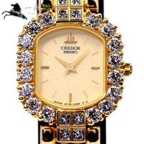 Seiko Жёлтое золото Кварцевые Цвета шампань 21mm подержанные