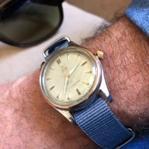 Tudor Rose gold Manual winding Champagne No numerals 34mm pre-owned