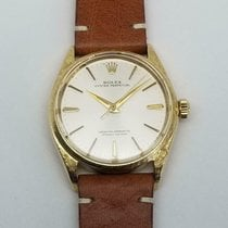Rolex Oyster Perpetual Yellow gold 34mm Silver