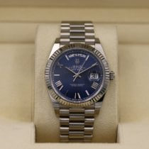 Rolex Day-Date 40 White gold 40mm Blue Roman numerals United States of America, Tennesse, Nashville