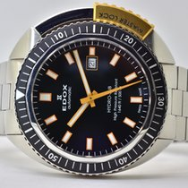 Edox pre-owned Automatic 46mm Black Sapphire crystal 50 ATM