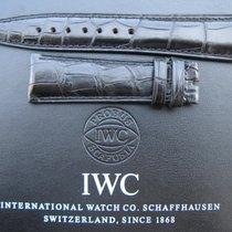 IWC 22mm black alligator strap for Portuguese Portugaise