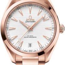 Omega Rose gold Automatic Silver 41mm new Seamaster Aqua Terra