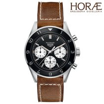 TAG Heuer MEN'S AUTAVIA CHRONOGRAPH AUTOMATIC LEATHER STRAP
