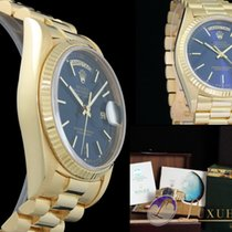 Rolex Day-Date 36mm | 18kt Gelbgold | Blau-Metallic Zifferblatt