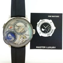 Greubel Forsey GMT White gold 45.5mm Transparent No numerals