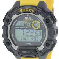 Timex Expedition World Shock Alarm Chronograph Rubber Mens Watch