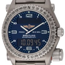 Breitling Emergency pre-owned 41mm Titanium